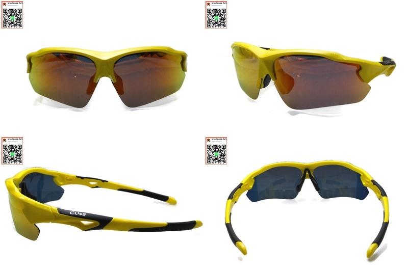 แว่นกันแดด ทรง sport polarized ตัดแสงสะท้อนรอบทิศทาง และเพิ่มควา